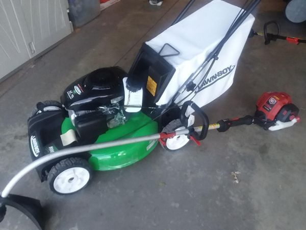 Lawnboy awd self pro and new trimmer