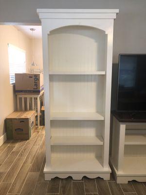 Custom built all wood bookshelves with adjustable shelves for Sale in Tampa, FL