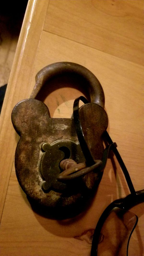 Antique mickey mouse pad lock