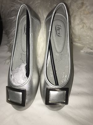 Silver Leather Shoes for Sale in Farmers Branch, TX