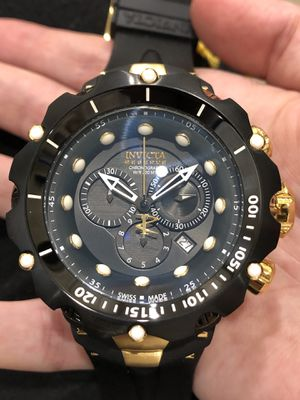 $2495 - Invicta Men's Black Ops Venom Reserve 18k Gold Collectors Chronograph Watch Made in Switzerland Rare Authentic for Sale in Brooklyn, NY