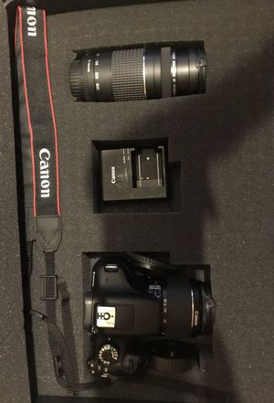 Canon Rebel T6 with 18-55 lense, 75-300 lense. Brand new. for Sale in Orlando, FL