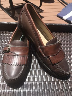 GH Bass Co Mens Brown Buckle Strap Fringe Slip On Loafers Shoe Size 8M for Sale in Mableton, GA