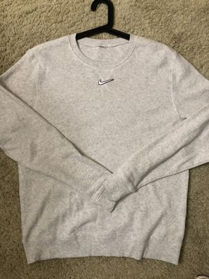 Grey Nike Center Swoosh Crewneck Size Large for Sale in Industry, CA