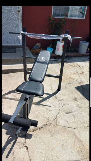 standard width bench press with leg developer and bar NO WEIGHTS for Sale in Los Angeles, CA