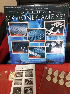 Limited Edition Deluxe Six In One Glass Game Set for Sale in Portland, OR