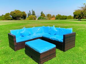 Brand new!Assembled!5PCS Outdoor Patio Rattan Furniture Set Sectional Conversation for Sale in Hacienda Heights, CA