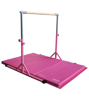 Gymnastics bar with Gym Mat pink for Sale in La Palma, CA
