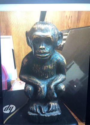 Vintage monkey lamp carved wood for Sale in Inman, SC
