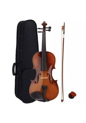 New Acoustic Violin 4/4 Full Size with Case and Bow Rosin Natural for Sale in Los Angeles, CA