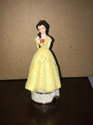 Disney BELLE Beauty & The Beast Ceramic Porcelain Figurine with Rose for Sale in Mount Prospect, IL