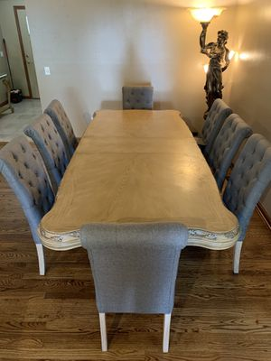 Dining table set with 8 chairs, buffet and console. for Sale in Columbus, OH
