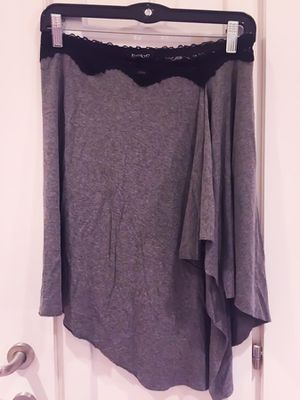 Gorgeous BEBE Gray Skirt with Black Lace for Sale in Las Vegas, NV
