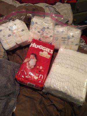 Huggies little snugglers newborn diapers for Sale in Tampa, FL