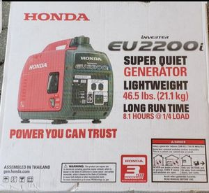 Honda generator eu2200i price is firm Precio firme for Sale in Industry, CA