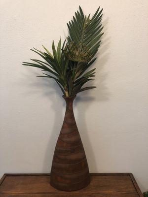 Ceramic vase with greens for Sale in Wenatchee, WA