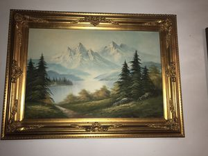 Mountain lake painting $30 for Sale in Los Angeles, CA