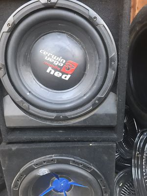 """12"""" Derwin Vega HED & HED 300.2 amp for Sale in Fresno, CA"""