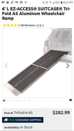 Portable wheelchair ramp for Sale in Norfolk, VA