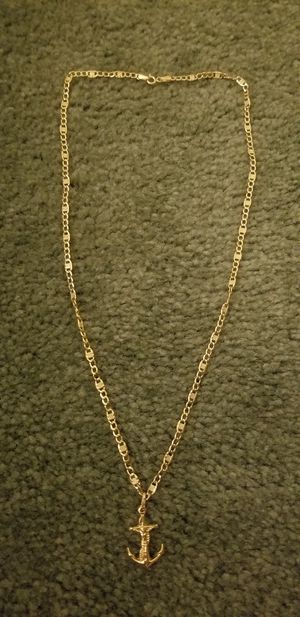 18k gold necklace with pendant for Sale in San Diego, CA