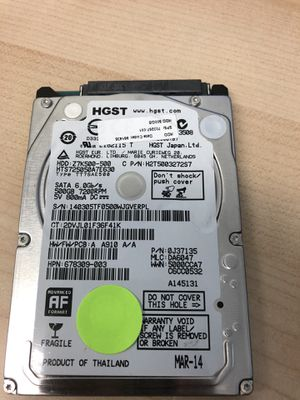 "500GB HGST 2.5"" SATA LAPTOP HDD -6gp/s for Sale in West Covina, CA"