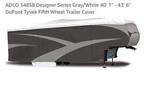 "42 ft 5th Wheel Trailer Cover ADCO 34858 Designer Series Gray/White 40' 1"" – Brand New In Box 43' 6"" DuPont Tyvek Fifth Wheel Trailer Cover for Sale in OCEAN BRZ PK, FL"