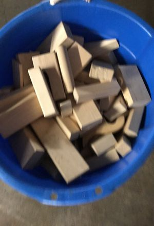 High quality solid wood building blocks all shapes for school or home for Sale in Los Angeles, CA