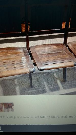 Antique, Vintage folding chairs for Sale in Oregon City, OR