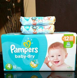 Pampers #4 y wipes $26 for Sale in Gardena, CA