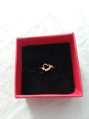 14 k Gold Heart Precious Diamond accent ring for Sale in Northumberland, PA