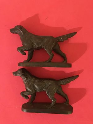 1920s bronze cast iron hunting dog bookends for Sale in Summerfield, NC