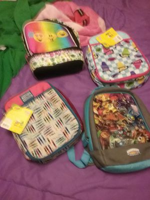 4 for 15$ Boys n Girls Lunch boxes with Mini Backpacks 4 for 20$ for Sale in Las Vegas, NV