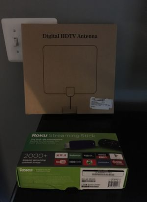 Roku streaming stick with hdtv antenna with amplifier for Sale in Frederick, MD