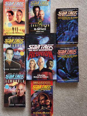 Star Trek Books. Soft back. The Next Generation. Vintage! for Sale in Battle Ground, WA