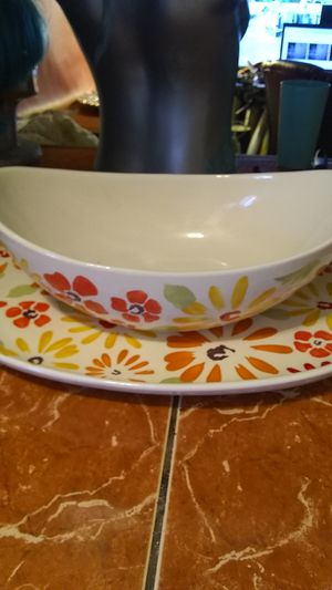 Big bowl and platter for Sale in Placentia, CA