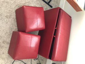 Free red storage ottoman for Sale in Snoqualmie, WA