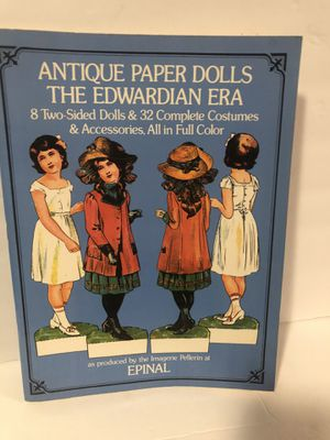 Antique Paper Dolls The Edwardian Era by Epinal 1975 new, Uncut for Sale in San Bernardino, CA