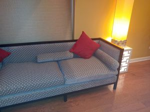 Large sofa grey and black 12 ft 9 in Long in excellent condition for Sale in Bolingbrook, IL