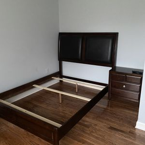 Queen Size Bed frame, Nightstand & Chest for Sale in Monroe Township, NJ