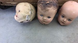 Antique Doll Heads with Movable eyes for Sale in Gresham, OR