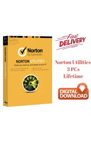 Norton Utilities 16 Software for 3 PCs Lifetime License - Digital Fast Delivery for Sale in Los Angeles, CA