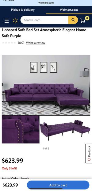 Recliner Sofa Couch Tufted Purple Sectional for Sale in Los Angeles, CA