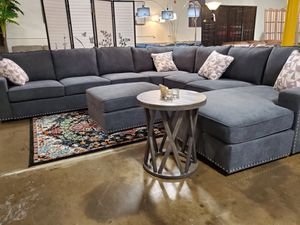 Oversized, Sectional Sofa with Ottoman, Dark Grey for Sale in Santa Ana, CA
