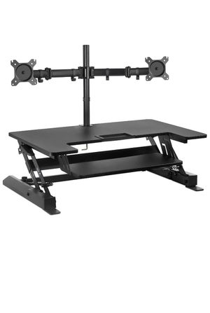 Mount-It! Standing Desk Converter with Bonus Dual Monitor Mount Included for Sale in Pompano Beach, FL