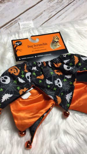 Halloween Dog Collar Bats & Pumpkins Scrunchie NEW NWT for Sale in Eagle Point, OR