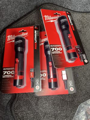 Milwaukee 700 Rechargeable Flashlight $35 each for Sale in Houston, TX
