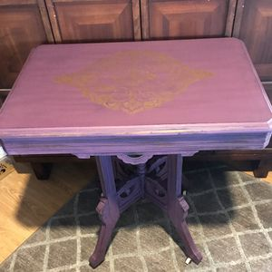 Antique shabby chic Eastlake side table-price firm for Sale in Lakeside, CA