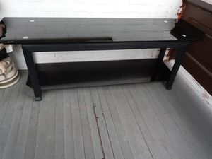 Black glass tv stand for Sale in Niagara Falls, NY