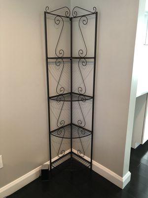 Bronze metal corner shelf for Sale in Bloomfield Hills, MI