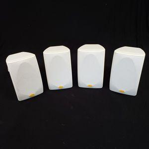 4 Polk Audio White Indoor/Outdoor Loudspeakers USED Speakers for Sale in Keystone Heights, FL